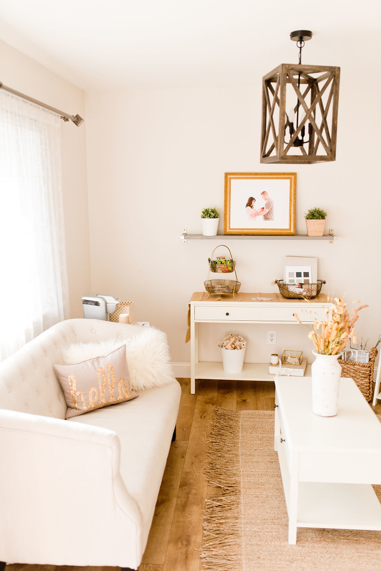 A photographer's studio gets lots of natural light, captured by Sweet Beginnings Photography by Stephanie, a Sacramento Newborn and Family Photographer