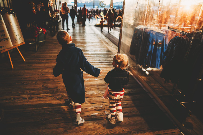 Children walking | Sweet Beginnings Photography by Stephanie | Polar Express