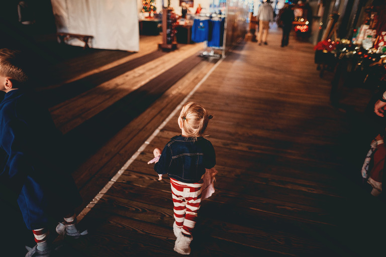A little girl takes a walk | Sweet Beginnings Photography by Stephanie | Polar Express